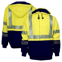 National Safety Apparel C21HC Class 3 Hybrid FR Deluxe Sweatshirt HRC-2