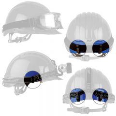 JSP® 281-CL-SET Lamp & Goggle Clip Set on Evolution 6100 Series Hard Hat