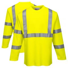 Portwest FR96 Class 3 FR HRC 2 Hi-Vis Long Sleeve T Shirt