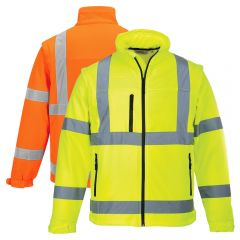 Portwest US428 Class 3 HiVis Softshell Safety Jacket