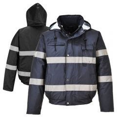 Portwest US434 Iona Lite Enhanced Visibility Waterproof Bomber Jacket