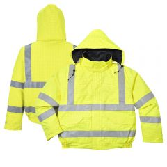 Portwest US773 Bizflame Rain Hi-Vis Anti-static FR Treated Bomber Jacket