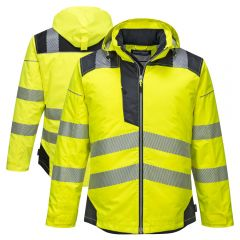 Portwest T400 PW3 Vision Class 3 HiVis Insulated Rain Jacket