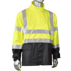 Radians RJ07 FORTRESS 35 Industrial Grade ANSI 3 PVC Rain Jacket | front