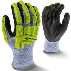 Radians RWG604 ANSI Cut Level 4 Insulated Nitrile Dipped Gloves with Dorsal Protection