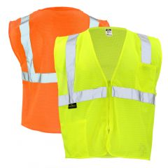 Radians SV2Z Class 2 Hi Vis Zippered Economy Mesh Safety Vest