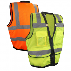 Radians SV59Z Heavy Duty ANSI Class 2 Zippered Surveyors Safety Vest