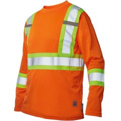 Work King S396 Micro-Mesh ANSI 3 Long Sleeve - orange front