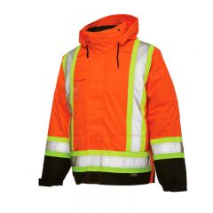 Work King Safety S426 5-in-1 Thermal Jacket |  Orange Outer Shell - Front