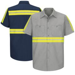 Red Kap SP24 Enhanced Visibility Short Sleeve Industrial Work Shirt