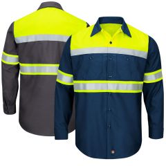 Red Kap SY70 Ripstop Class 1 Long Sleeve Work shirt shirt