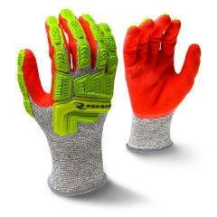 Radians RWG603 ANSI Cut Level 4 Nitrile Dipped Gloves with Dorsal Protection
