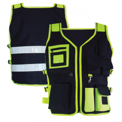3A Safety S2350 Hi Vis Utility Safety Vest in Lime/Black