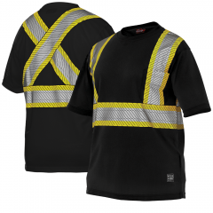 Work King S395 Premium Short Sleeve Micro-mesh Safety T-Shir