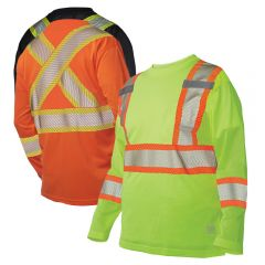 Work King S398 Premium Long Sleeve Micro-Mesh Safety T-Shirt
