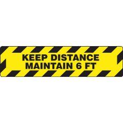 Slip-Gard Keep Distance Maintain 6 FT Border Floor Sign