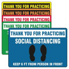 Slip-Gard PSR300 Thank You For Practicing Social Distancing Floor Sign