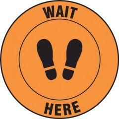 Slip-Gard Wait Here Footprint Floor Sign