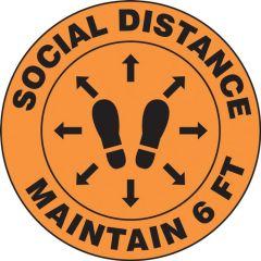 Slip-Gard Social Distance Maintain 6 FT Footprint Floor Sign