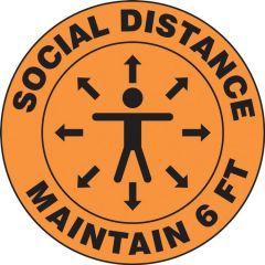 Slip-Gard Social Distance Maintain 6 FT Person Floor Sign