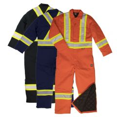 Tough Duck S787 Class 1 6oz Cotton Duck Insulated Contrast Safety Coverall