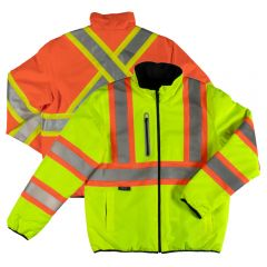 Tough Duck SJ27 Class 3 HiVis Contrast Ripstop Reversible Quilt-lined Safety Jacket