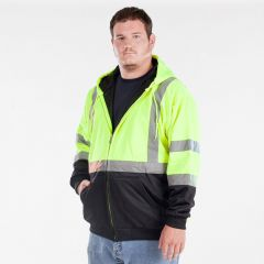 Utility Pro UHV425 Class 3 HiVis Hooded Softshell Jacket - side