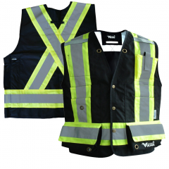 Black Viking Journeyman 300D Trilobal Ripstop FR Surveyor's Vest