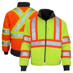 Work King S241 Class 3 Reversible Contrast Safety Jacket