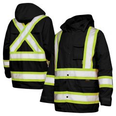 Work King S372 Class 1 300D Ripstop Contrasting Rain Jacket