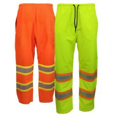 Work King SP02 Hi-Vis Class E Packable Rain Pants