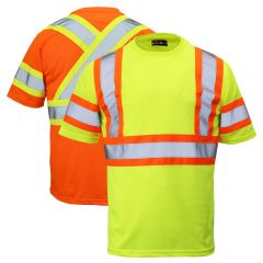 Work King ST09 Class 2 Polyester Micro Mesh Contrast Short Sleeve T-Shirt
