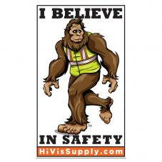 "HiVis Hank 991193 ""I Believe In Safety"" Sticker"