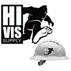HiVis Hank 991182 Dark Side Hard Hat Sticker | Hard Hat View