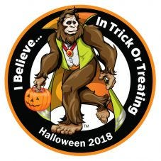 """HiVis Supply """"I Believe In Trick Or Treating"""" Hard Hat Sticker"""