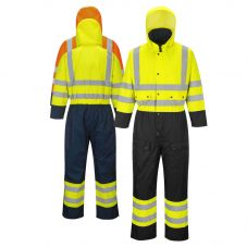 Portwest US485 Class 3 Contrast Thermal Lined Coveralls