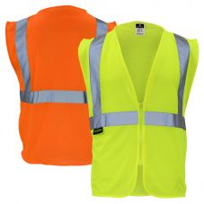 Radians SVE1 Class 2 Hi Vis Economy Mesh Safety Vest | Front and Back
