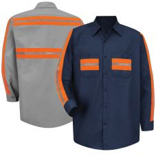 Red Kap SP14OR Enhanced Visibility Work Shirt