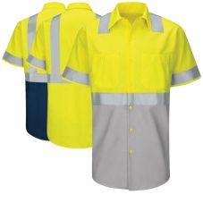 Red Kap SY24 Class 2 Ripstop Short Sleeve Work Shirt