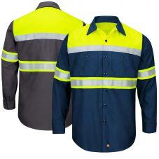 Red Kap SY70 Ripstop Class 1 Long Sleeve Work shirt shirt