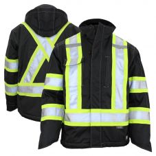 Work King S245 Class 3 HiVis 300D Ripstop Fleece Lined Jacket