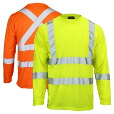 Work King ST08 Class 3 Segmented Tape Micro Mesh Long Sleeve T-Shirt