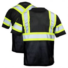 Work King ST09 Class 1 Polyester Micro Mesh Contrast Short Sleeve T-Shirt