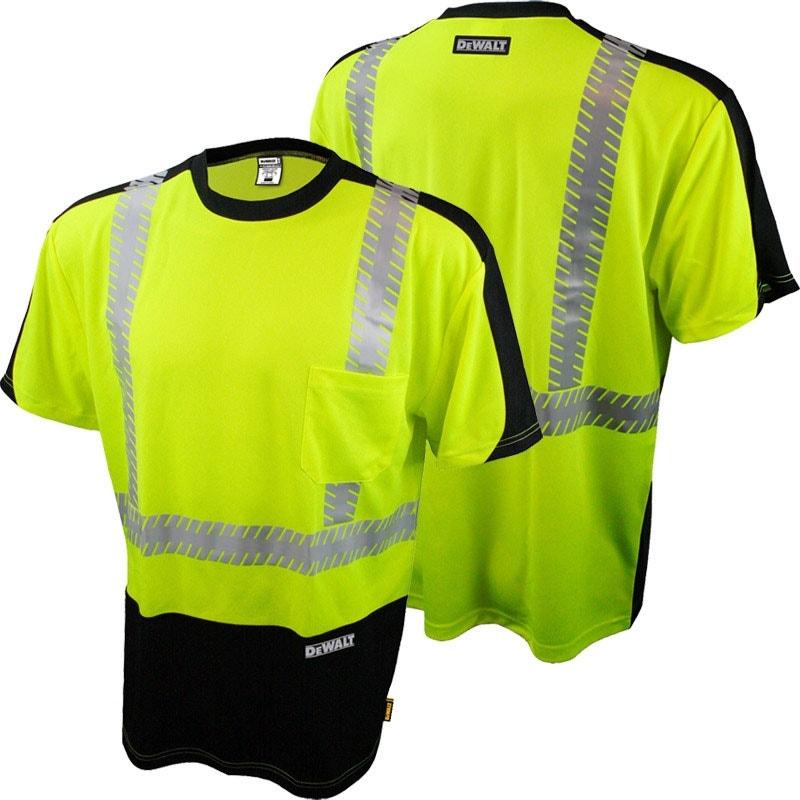 Dewalt Dst11b Ansi Class 2 Hi Vis Mesh Safety T Shirt