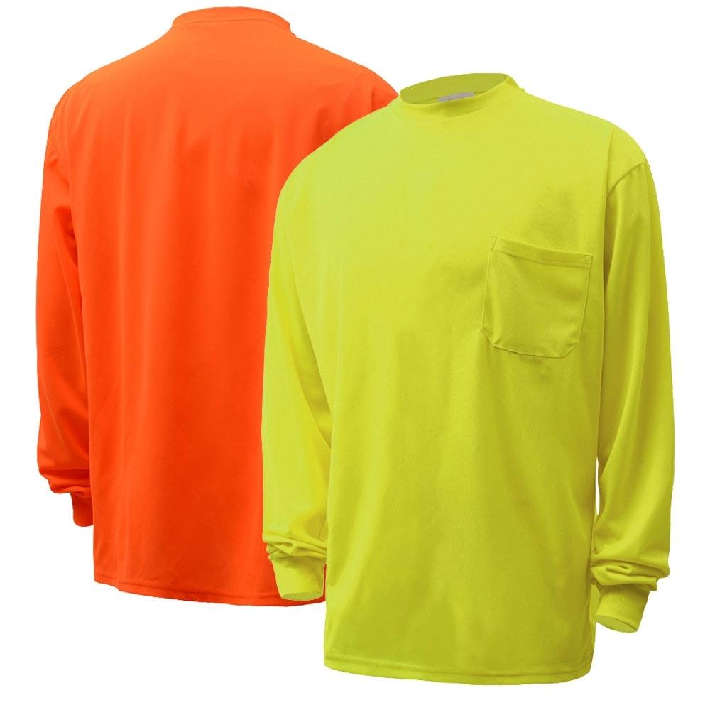 Gss Safety 5503 5504 Hi Vis Safety Long Sleeve Shirt