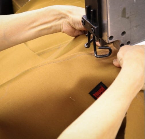 Bar Tacking - Tough Duck Work Wear