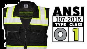 ANSI Type O, Class 1 Clothing
