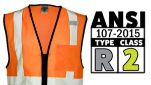ANSI Type R, Class 2 Vests