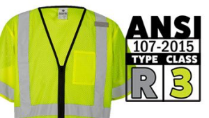 ANSI Type R, Class 3 Vests