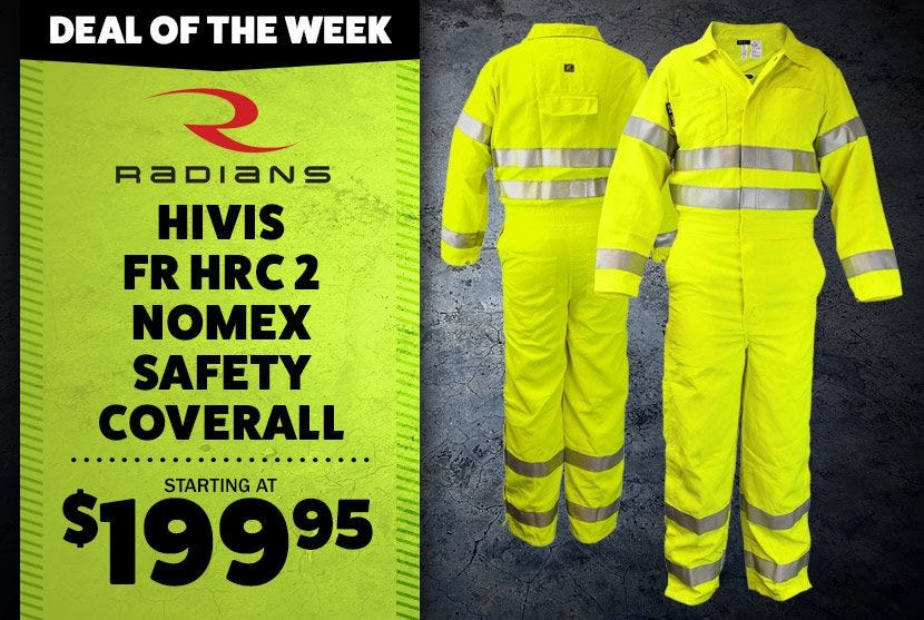 Deal of the Week - Neese VM7CA3 Class 3 HiVis FR HRC 2 Nomex Safety Coverall